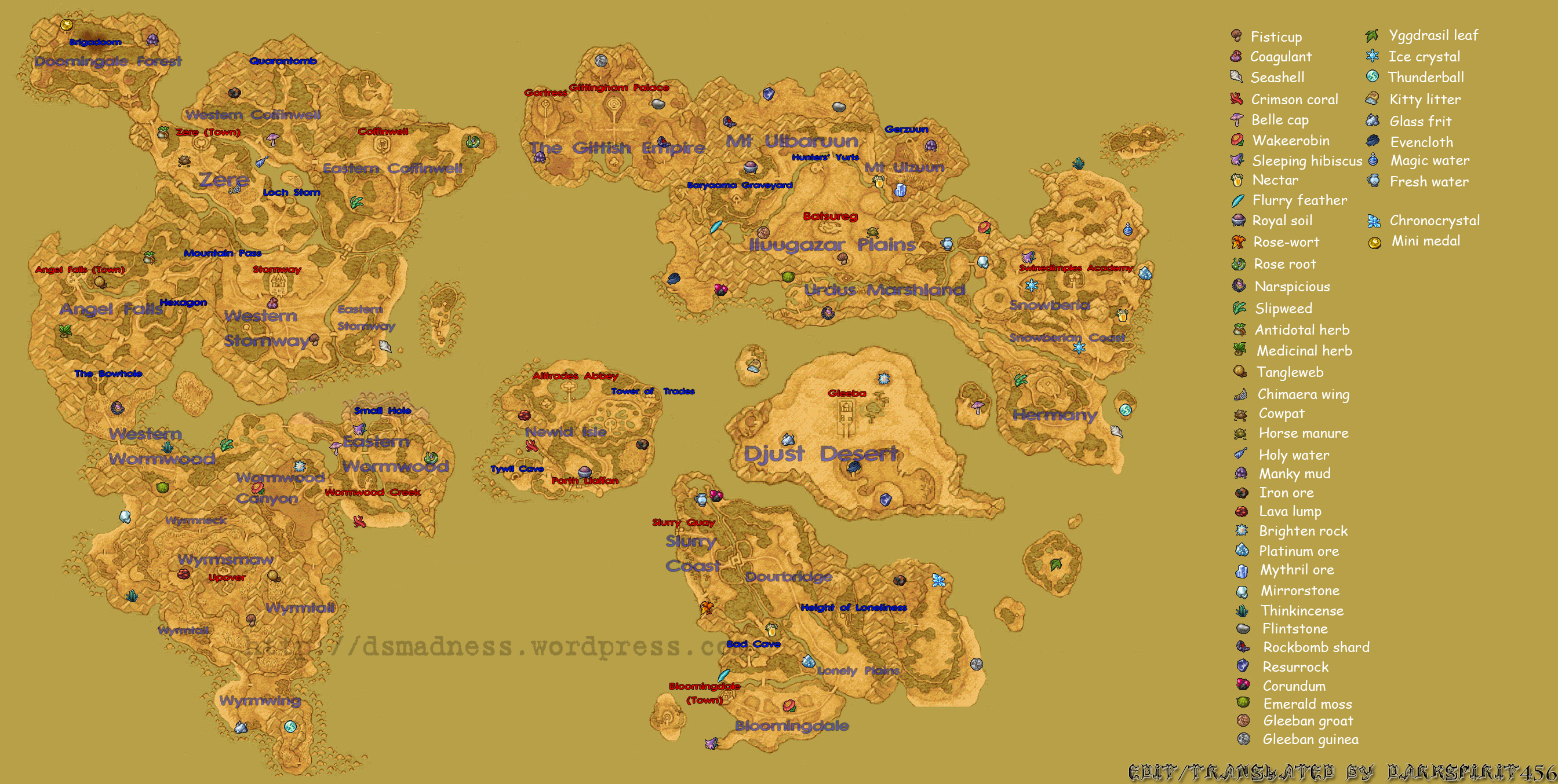 Dragon Quest Ix World Map V1 5 Ds Madness