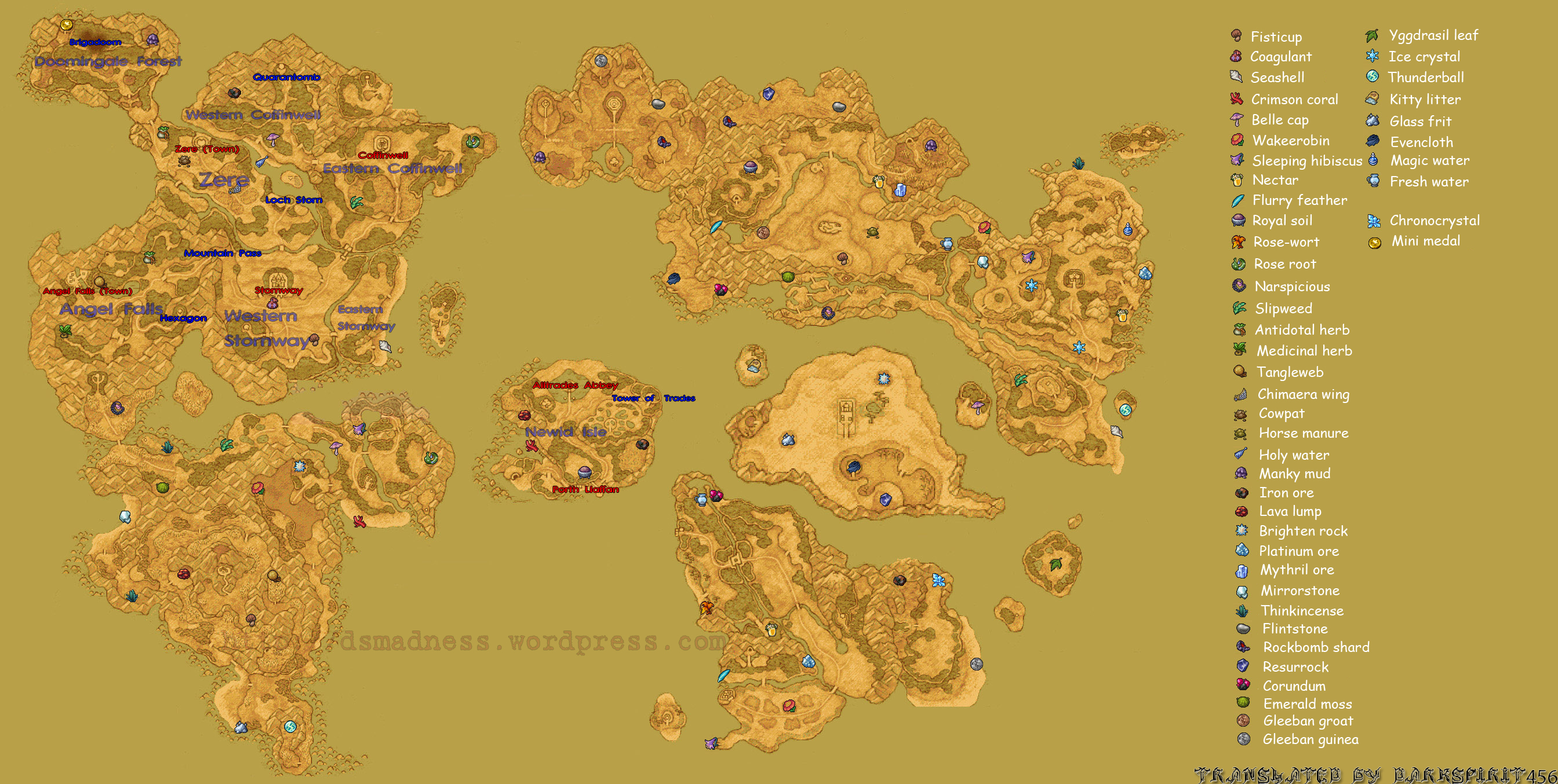 Dragon Quest Ix World Map V1 Ds Madness