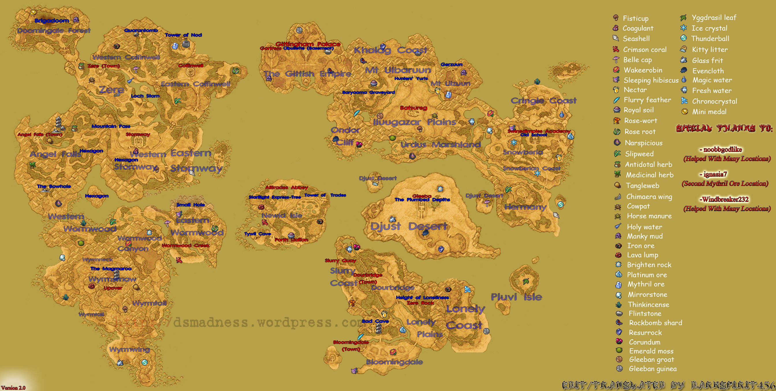 Dragon Quest IX World Map | DS Madness %#@*!
